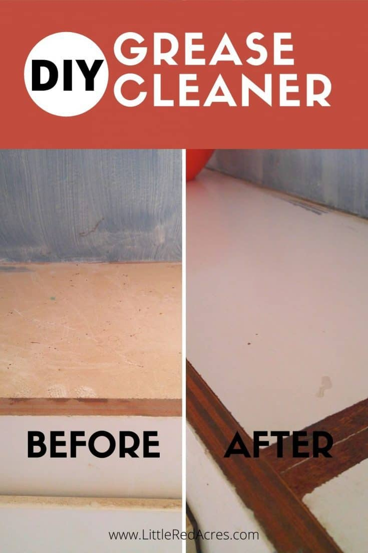 DIY Grease Cleaner - before and after picture