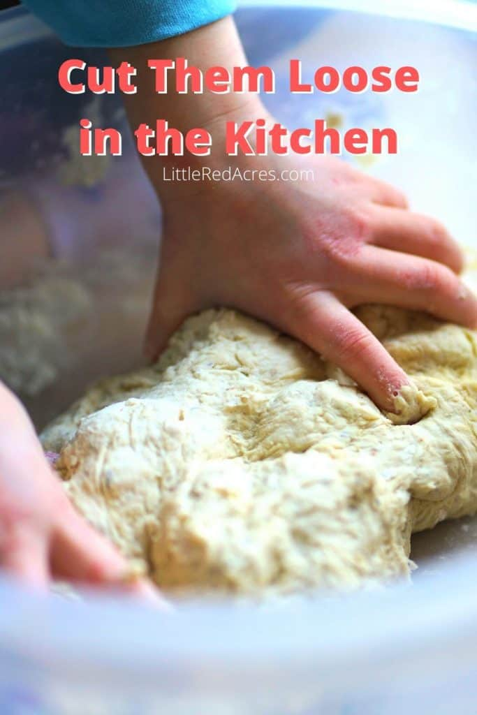 Tips for Homesteading with Kids -Cut Them Loose in the Kitchen